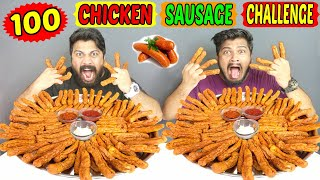 100 CHICKEN SAUSAGE EATING CHALLENGE | 100 CHICKEN SAUSAGE EATING COMPETITION (Ep-297)