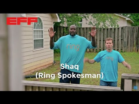 #NothingButDragnet: EFF calls on @Shaq to stop endorsing police partnerships with Amazon's creepy, surveilling Ring doorbells