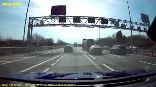 2018-04-06 - white van drives on motorway hard shoulder