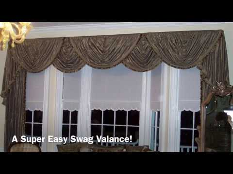 Super Easy Swag Valance Anyone Can Make