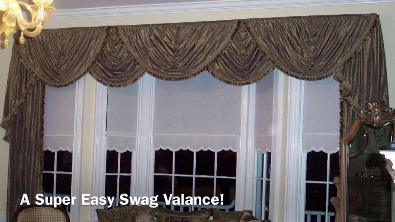 a super easy swag valance anyone can make