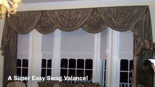A SUPER Easy Swag Valance Anyone Can Make!