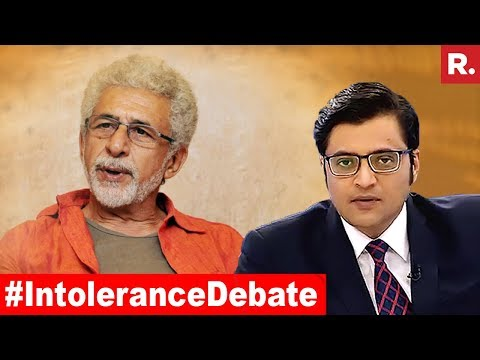 #IntoleranceDebate: Is Naseeruddin Shah Right Or Wrong? | The Debate With Arnab Goswami