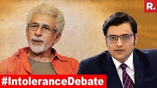 #IntoleranceDebate: Is Naseeruddin Shah Right Or Wrong?   The Debate With Arnab Goswami thumbnail
