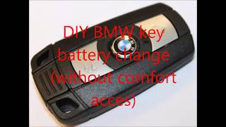 BMW key battery replacement (without comfort acces) / how to change battery / E90 key fob DIY