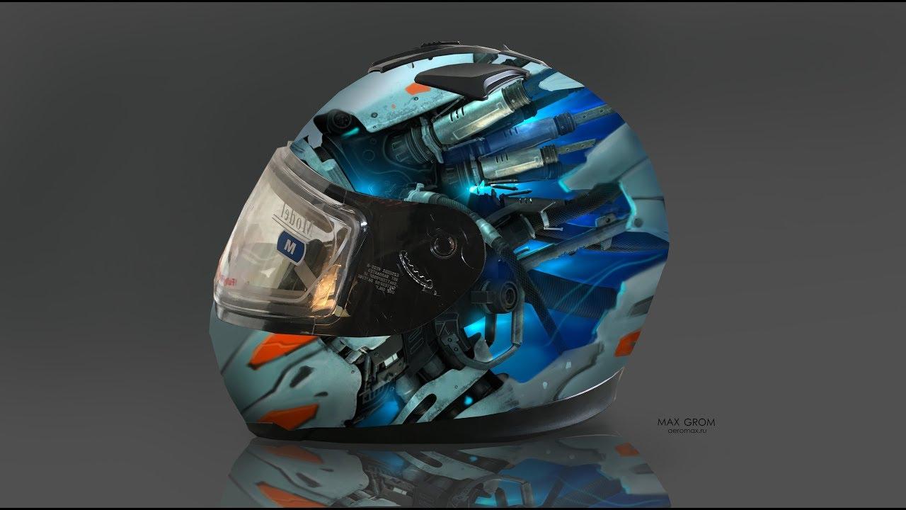Аэрография и Photoshop. Подход к созданию дизайна (эскиза) шлема для аэрографии.