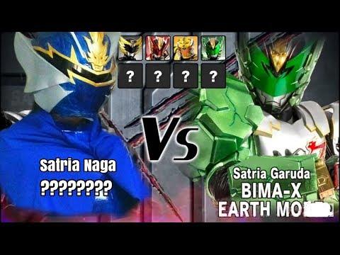 Satria Naga VS Bima X Earth Mode