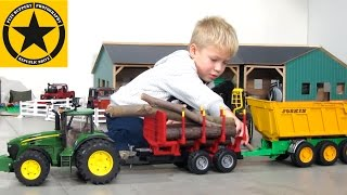 Toy Truck Videos for CHILDREN 🚜 Tractors for KIDS✅ best of BRUDER TOY KID👍