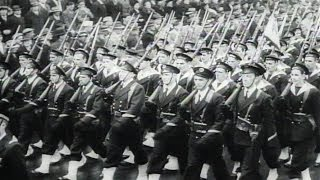 HD Historic Archival Stock Footage WWII - French Sailors Win Ovation In First U.S. Parade 1943