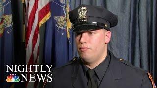 Inspiring America: Marine Who Lost Legs In Afghanistan Graduates Police Academy   NBC Nightly News