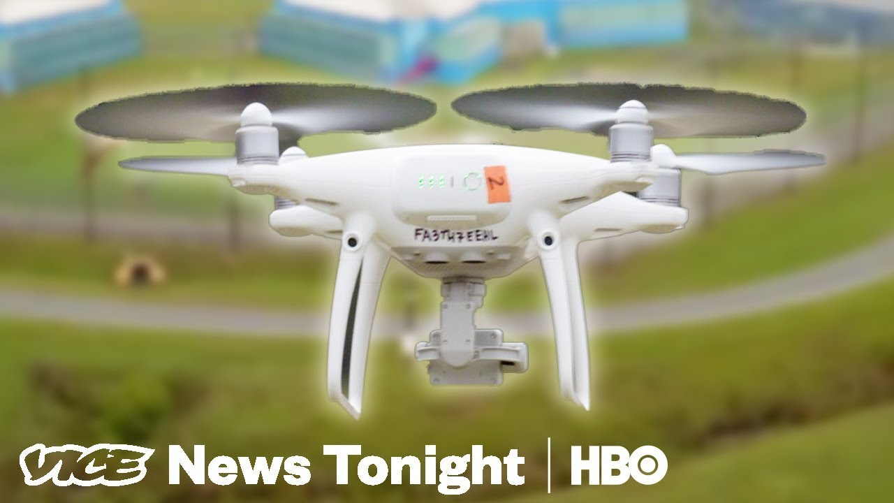 The Battle Against Drones Smuggling Drugs Into Prison (HBO)