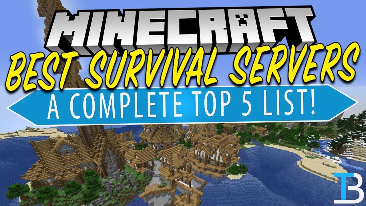 Top 5 Best Minecraft Survival Servers YouTube