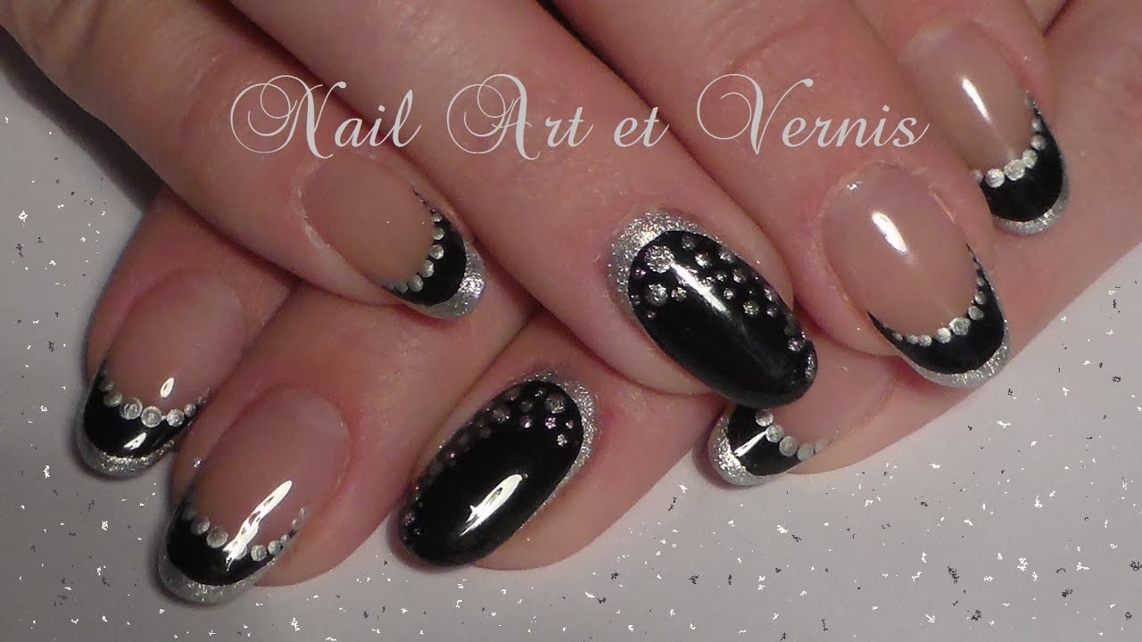 Nail art nouvel an french et manucure bicolore youtube - Nail art nouvel an ...