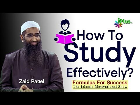 How to study effectively - Formulas For Success By Zaid Patel iPlus TV
