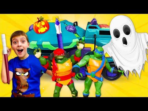 Новый грузовик для Черепашек Ниндзя! Мультики с игрушками - Крутое видео!