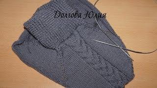 Вязание спицами для начинающих - Манишка. Как связать манишку спицами. Уроки вязания