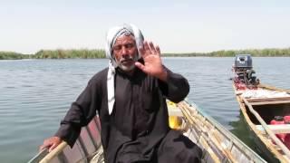 لقاء مع كريم سلس سائق مشحوف في هور الحويزة Meeting With a Boat Driver In Al-Hwieza Marsh