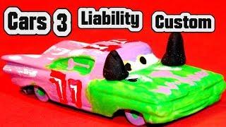 Disney Pixar Cars 3 Custom Liability Demolition Derby Crazy 8 Race Cars and Primer Lightning McQueen