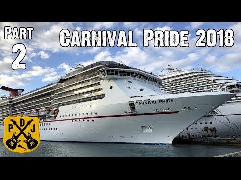 Carnival Pride Cruise Vlog 2018 - Part 2: Sea Day Brunch, Arcade, Clue, Thriller, Tea - ParoDeeJay