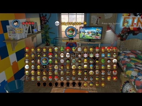 The LEGO Movie Videogame - All 100 Characers Unlocked (Complete ...