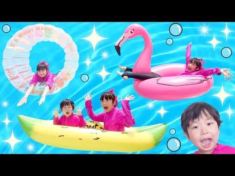 ★「9種類!色々な浮き輪やフロート乗り比べ!」in ラグナシア★Compare various floating rings★