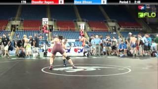 Junior 170 - Chandler Rogers (Washington) vs. Steve Ullman (Colorado)
