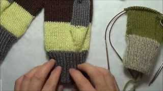 Tricoter des mitaines avec 2 aiguilles circulaires
