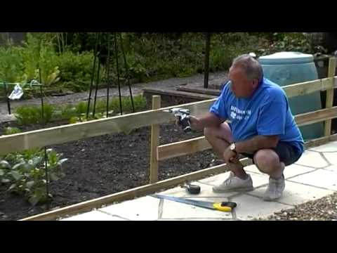 How to make a post and rail fence youtube for Make your own fence