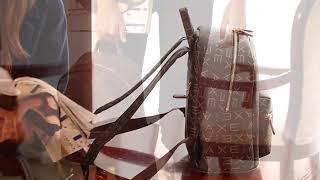 AXE 여성 가죽 백팩 학생 캐주얼 노트북 가방 L55…