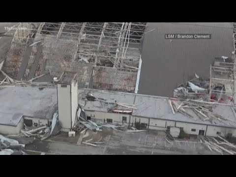Drone video shows Hurricane Michaels aftermath at Tyndall Air Force Base