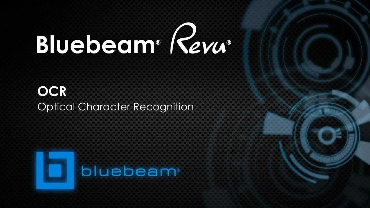 Bluebeam Revu - OCR