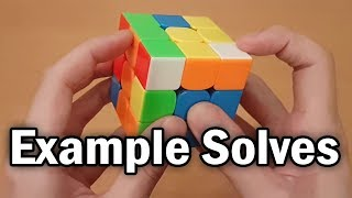 3x3 Rubik's Cube: Walkthrough/Example Solves