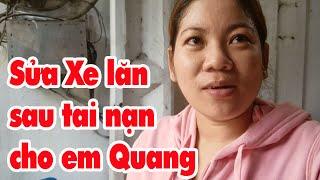Sửa xe cho em Quang liệt tứ chi sớm có xe đi bán vé số mưu sinh