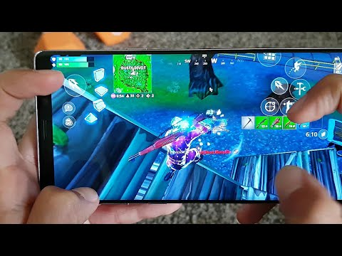 GAME TEST: FORTNITE SEASON 8 | HANDCAM | CLAW | Galaxy Note 9 Mobile 60 FPS | New HUD/Layout!