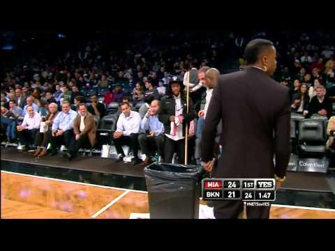 Rain Delay in the NBA? | Barclays Center Nets vs Heat