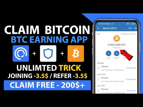 New Bitcoin Earning App | New Verified Airdrop| Trust Wallet Airdrop | instant payment airdrop today