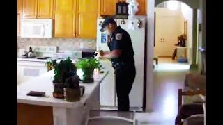 Security Cam Catches Police Burglar In The Act (VIDEO)