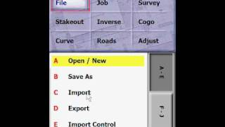 Survey Pro-Create Job and import coordinate file