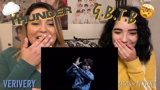 First Time Reacting To VERIVERY - 'Thunder' and 'G.B.T.B.' Official M/Vs | Ams & Ev React