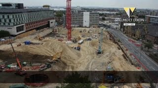Tesco commercial development Woolwich Timelapse video