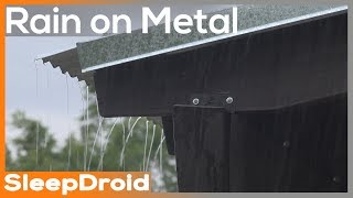 ► 4K Hard Rain on a Metal Roof Sounds for Sleeping ~ 5 hours Actual Rain on a Tin Roof Nature Video