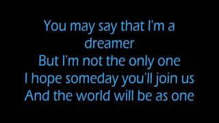 Video John Lennon - Imagine (LYRICS ON SCREEN)! download MP3, 3GP, MP4, WEBM, AVI, FLV Agustus 2018