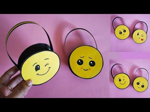 Emoji Inspired Paper Basket | Easy Paper Basket for Chocolates | Gift Basket | DIY