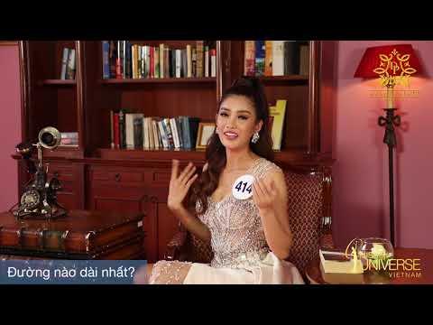 INTERVIEW   Trình Thị Mỹ Duyên, SBD 414   Top 45 Miss Universe Vietnam