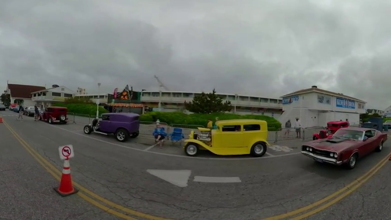 Cruisin Ocean City Inlet Car Show Thurs AM K VR YouTube - Ocean city car show 2018