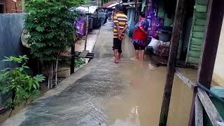 Banjir Di Lhoksukon Tanggul Lorong 5  Hari 1 , 3 Desember 2017 ( Aceh Utara )