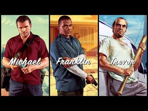 Grand Theft Auto V: Michael. Franklin. Trevor.