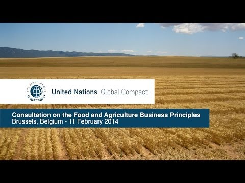 UN Global Compact: Consultation on the Food and Agriculture Business Principles, Brussels