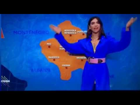 Dua Lipa... the new french weather girl