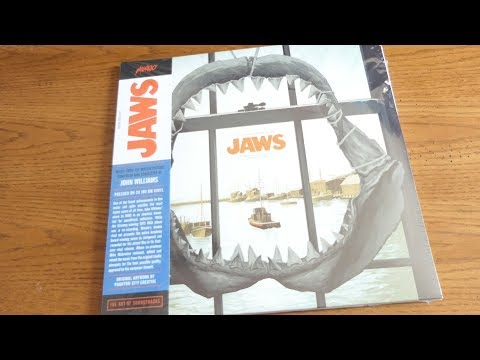 Unboxing JAWS - Music From the  Motion Picture Soundtrack 2XLP 45RPM Vinyl MONDO Exclusive